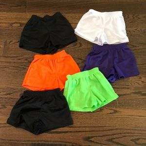 Assorted girls mesh shorts.